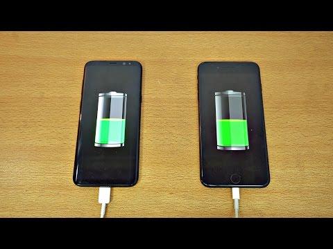 Samsung Galaxy S8 Plus vs iPhone 7 Plus Battery Charging Speed Test 4K