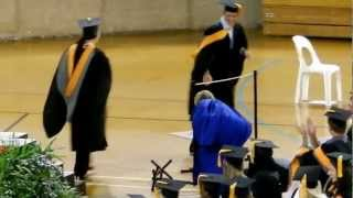 Funny graduation scene