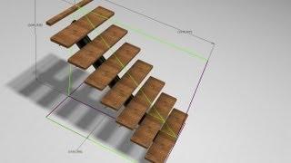 Autodesk Inventor - Flexible Staircase Skeleton Modeling