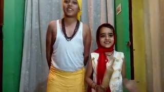 Haryanvi funny video    Shagun and Ranjan    Montessori Nargis Dutt School