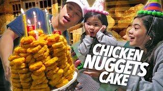 Chicken Nuggets Cake Birthday Surprise!! | Ranz and Niana