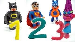Learning Numbers With Superheroes Stop Motion Animation Educational Play Doh Movies For Kids