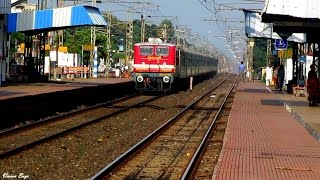 Sizzling Red WAP-4 Shatabdi Bolts Radhamohanpur !!!!