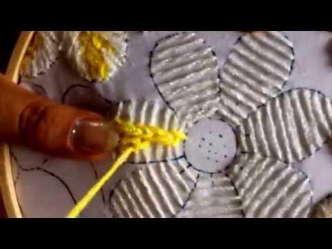 21. puntada fantasía para flor de la borreguita