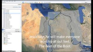 Mapping out the Way to Heaven. Rapture Google Earth Jesus Series.