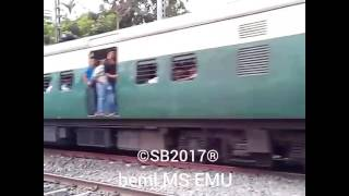 Beml ms emu as Up train at Belgharia (BLH)(IR) (50035-50036-50037)
