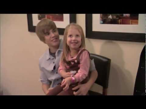 Justin Bieber Meets 3 Year Old Girl Cody
