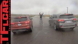 2016 Kia Sorento vs. Hyundai Santa Fe Mashup Drag Race Review