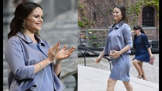 WATCH !!! Pregnant Princess Sofia of Sweden Looks Pretty When Attending Stockholm Hospital Ceremony