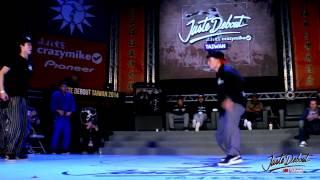 Locking Final - Beigow Diao vs Broco Benson   CrazyMike Juste Debout Taiwan 2014
