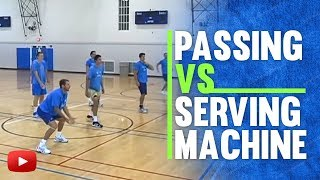 Volleyball Passing vs Serving Machine - Coach Al Scates (19  NCAA National Championships)