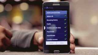 EE -- Samsung Galaxy Note 3 -- How do I clear cookies, cache and internet history?