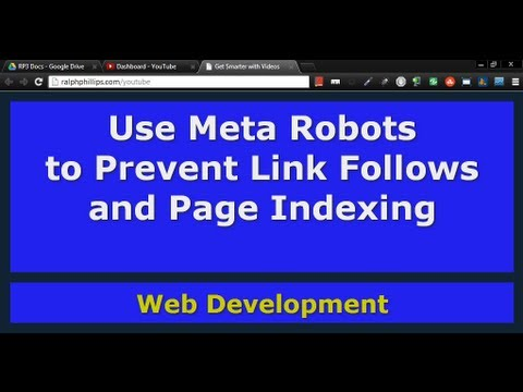 Use Meta Robots to Prevent Search Engines from Indexing Your Page and Following Your Links
