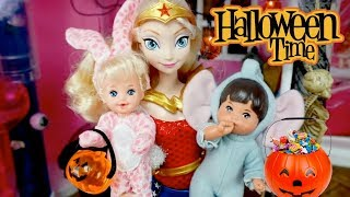 Halloween Videos For Kids - Barbie & Sisters, Frozen Elsa Toddlers and Disney Princesses