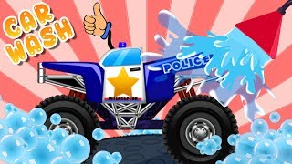 Police Car Wash | Kids Videos | Cartoon For Toddlers