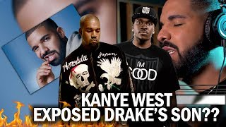 SHADY!! Kanye West Expose Drake's Son To Pusha T!? How The Beef Started (MY OPINION)