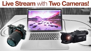 Live Stream with Two Cameras - (How to) [BlackMagic Ultrastudio Mini Recorder + YouTube]