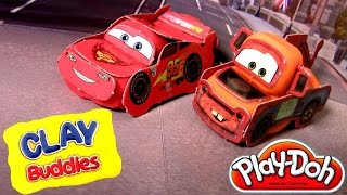 CARS Play-Doh Clay Buddies Disney Pixar Mater & Lightning McQueen by DisneyCollector