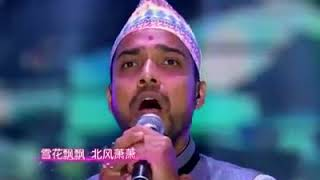 尼泊尔人唱《一剪梅》声音神似费玉清