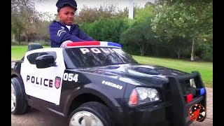 Little Heroes 17 - Training Day Surprise with the Cops, the Police Car and the Nerf Gun