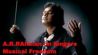 AR Rahman with Srinivas, Sujatha Mohan, Shweta Mohan, Chinmayee on  Musical Freedom.