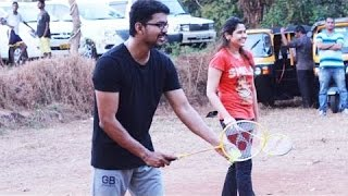 Vijay 59 Shooting Spot: Ilayathalapathy Vijay and Atlee playing Badminton