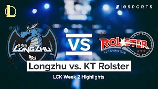 HIGHLIGHTS: Longzhu vs. KT Rolster (2017 LCK Spring)
