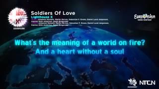 Lighthouse X-Soliders Of Love  (Denmark) Eurovision 16 Lyrics