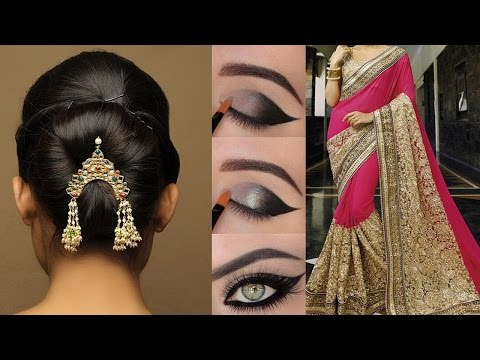 Xxx Mp4 💄Party Style Saree Draping Tutorial With Makeup Amp Hairstyle Step By Step Party Style Makeup Amp Hair 3gp Sex