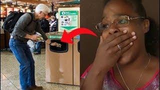 """شاهدت هذه المرأة رجل يترك حقيبة في المطار , وعندما فتحتها """" كانت المفاجأة """" .!"""