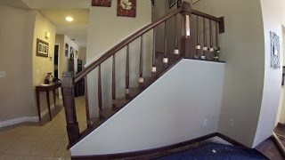 Walnut and copper Staircase