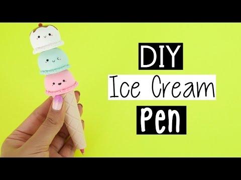 DIY ICE CREAM CONE PEN - Back To School