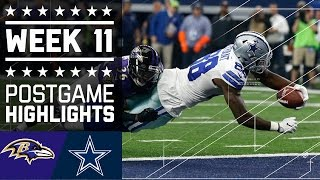 Ravens vs. Cowboys | NFL Week 11 Game Highlights