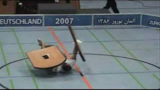 Ali Farzaneh lifting heavy shields