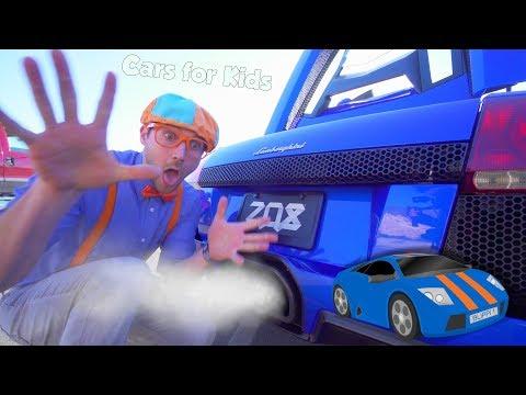 Xxx Mp4 The Blippi Lamborghini Race Car Video Learn About Vehicles For Kids 3gp Sex