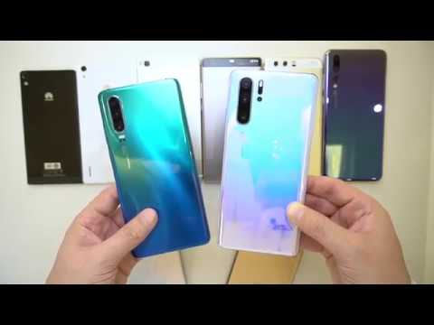 Huawei P30 and P30 Pro Close Up Unboxing Aurora and Crystal With every P series ever made