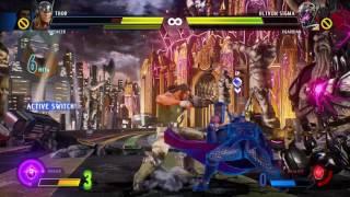 Marvel vs. Capcom: Infinite Demo - Defeating Ultron Sigma