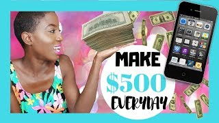 BEST WAY HOW TO Make QUICK Money Online VIDEO FAST, EASY, LEGIT WAY 2017  Make $500 daily