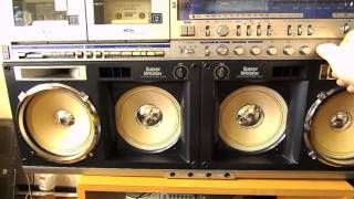 Sharp GF 1000 After repair, test cassette decks, FULL WORKING CONDITION!