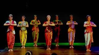 Indian dance in Saint-Petersburg, Russia, Apsara dancers
