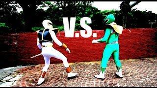 GREEN RANGER VS WHITE RANGER!?