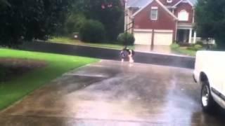 Walkin in the rain - Soaking Wet!