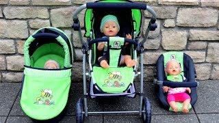 Bumblebee All in Emotion Combi Dolls Pram Stroller 3-in-1 Little girl Baby Annabell Baby Born