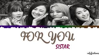 sistar for you lyrics color coded_han_rom_eng