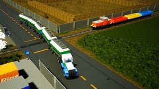 Brick Rigs Train Crashes and more - Lego Car Crashes 46