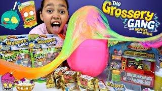 Grossery Gang Horrid Hot Dog Machine - Giant Slime Surprise Egg - Chocolate Yuck Bars