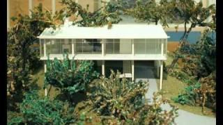 Sketchup y fotos de Casa de vidro de Lina Bo Bardi en Sao Paulo Brasil