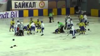 شجار جماعي بين لاعبي منتخبي أوكرانيا ومنغوليا في نهائيات كأس العالم للهوكي