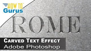 How to Carved Text, Chisled Stone Look in Adobe Photoshop CS5 CS6 CC Tutorial