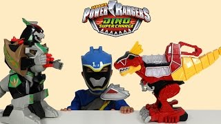 Power Rangers Dino Super Charge Rumble N Roar T-Rex Zord Toys Unboxing Playing Ckn Toys